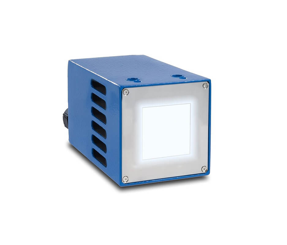 High intensity UV LED spot lamp with emission window 30 x 30 mm